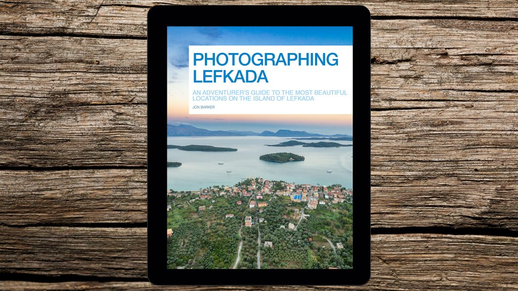 Photographing Lefkada eBook, available for iOS and Android devices.