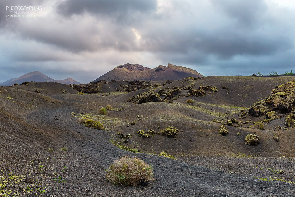 Image of an inactive volcano in Lanzarote by Jon Barker