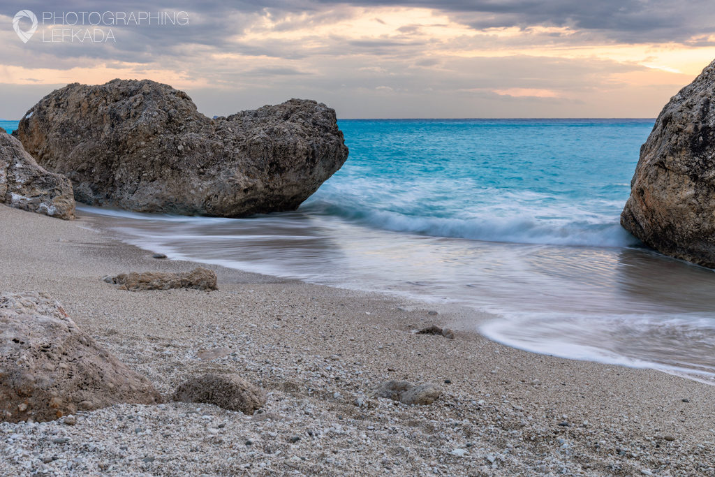 Kavalikefta Beach, Lefkada. Shot by Jon Barker for the Photographing Lefkada eBook
