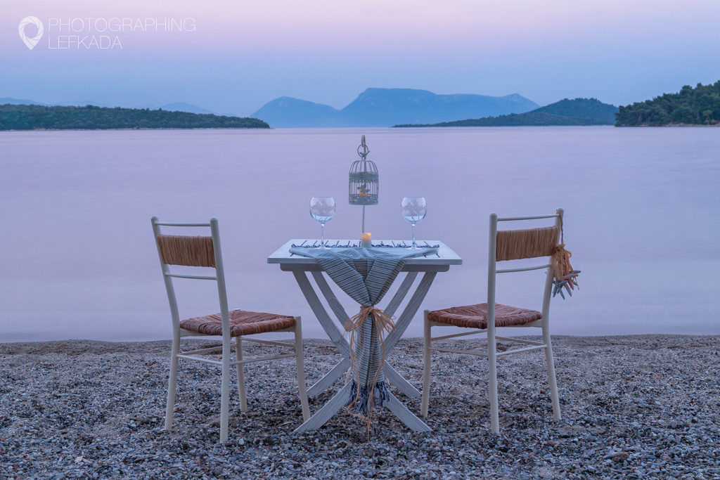 View from Kalypso Restaurant, Nidri, Lefkada. Shot by Jon Barker for the Photographing Lefkada eBook.