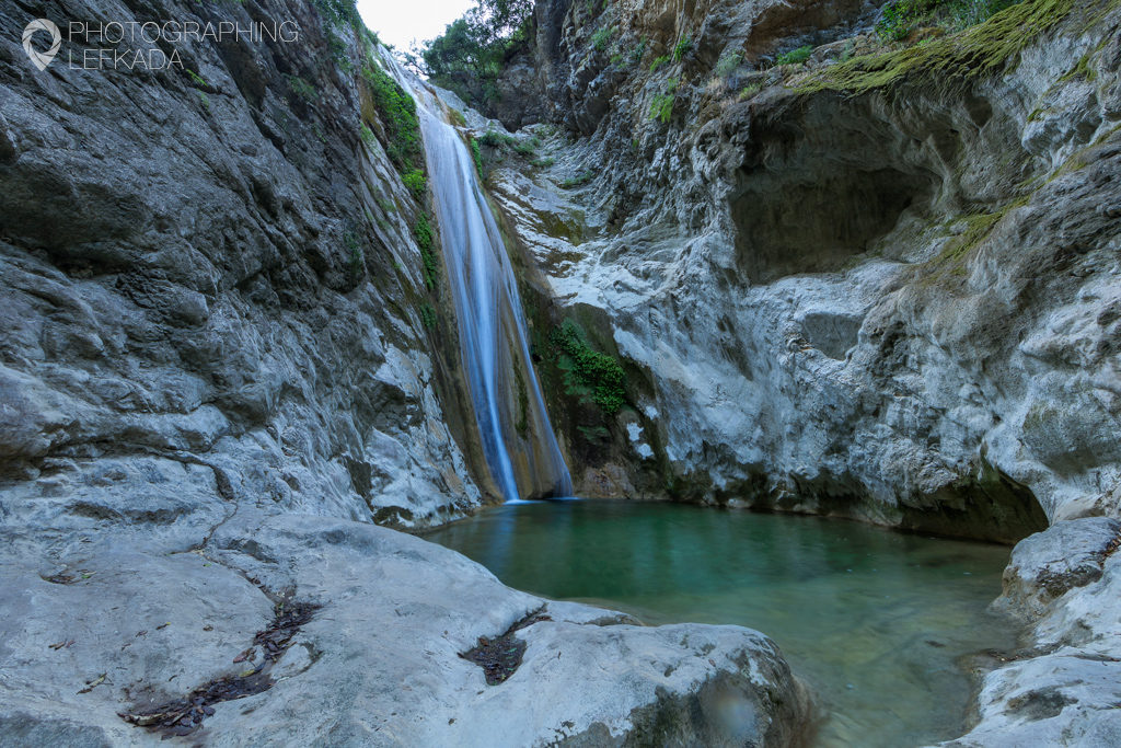 Dimossari Waterfalls, Lefkada. Shot by Jon Barker for the Photographing Lefkada eBook.