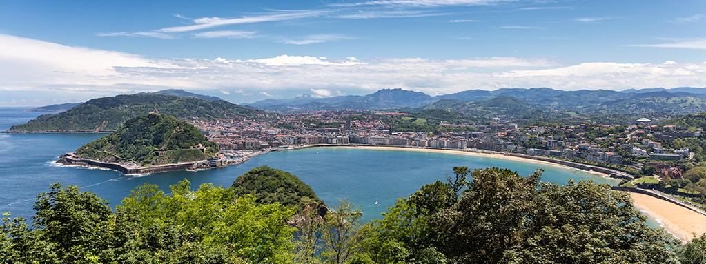 San Sebastian panorama by Jon Barker